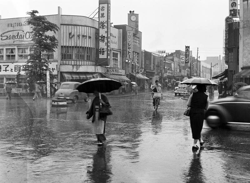 【写真募集】昭和33年頃東一番丁と青葉通交差点(提供/阿部幹夫さん)