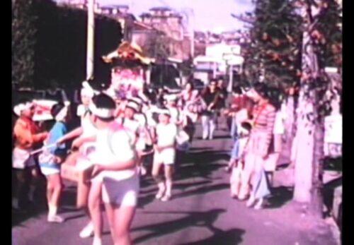 昭和40年代後半 緑ヶ丘コミュニティ祭り(子ども神楽)宮城県仙台市太白区
